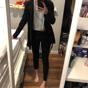 wool blend coat / black / maje